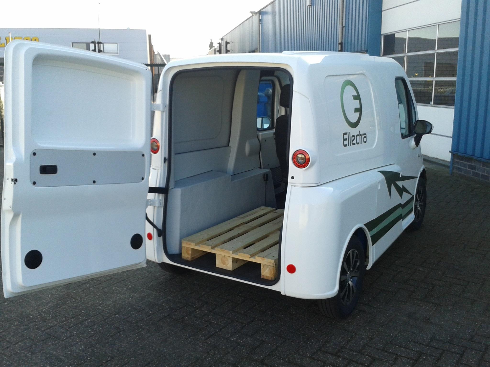 Streeter bestelwagen met Europallet