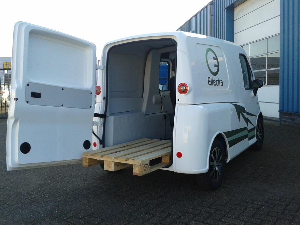 Streeter bestelwagen met pallet